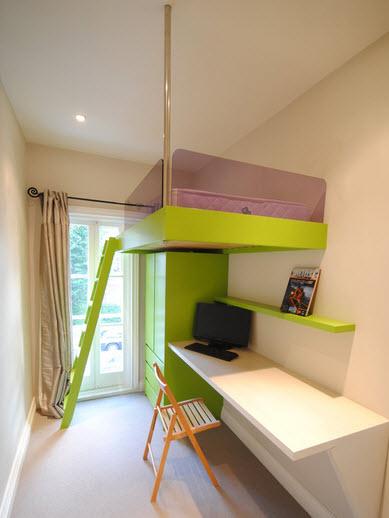 Дизайн маленькой детской комнаты - фото