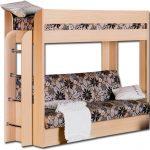 Двухъярусная диван кровать из дерева