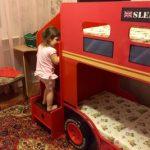 Двухъярусная кровать Автобус в детскую комнату