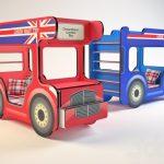 Двухъярусная кровать-автобус Лондон в разных цветах