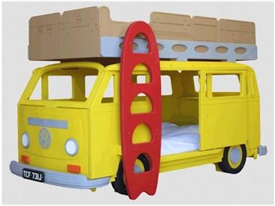Двухярусная кровать-автобус - мечта любого ребенка
