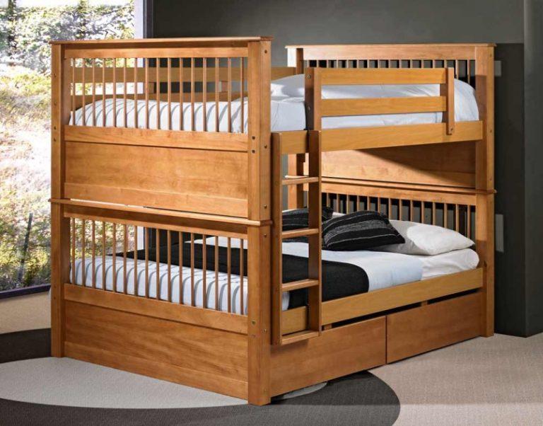 Двухъярусные кровати двуспальные своими руками