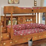 Двухъярусная подростковая кровать из массива дерева