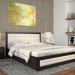 двуспальная кровать подъемная в интерьере спальни