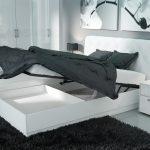 двуспальная кровать мягкая спинка подъемный механизм