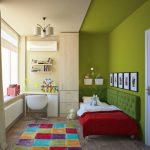 Яркая детская маленькая комната