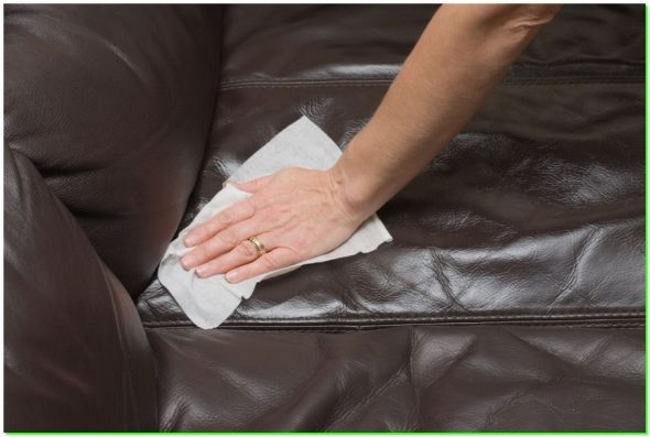 Как почистить кожаный диван