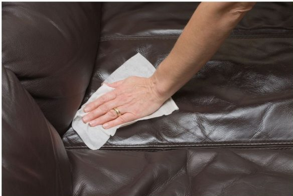 почистить диван от зеленки