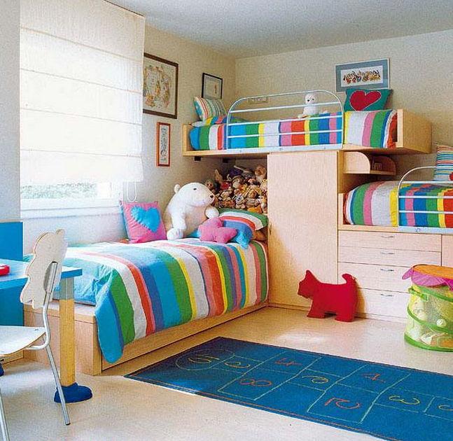 Детские комнаты для 3 девочек дизайн