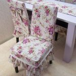 Красивые чехлы для стула своими руками
