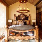 кровать из массива дерева дизайн спальни