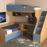 Мебель для маленькой детской комнаты для двух детей