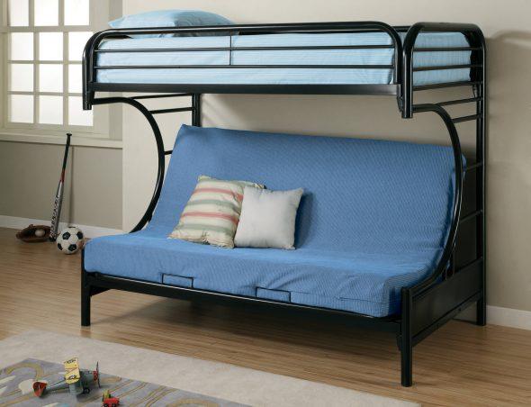 Металлическая кровать-диван для взрослых