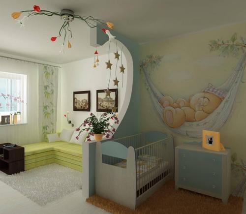 Обои для маленькой детской комнаты