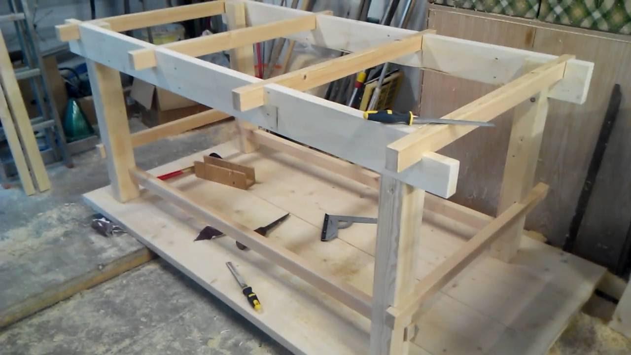 Стол из дерева для гаража своими руками