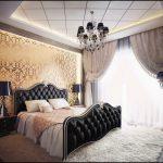 Шикарная мебель для спальни в черном цвете