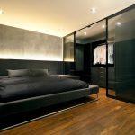 шкаф купе в спальне темный