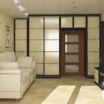 Шкаф вокруг дверного проема для узких и длинных комнат