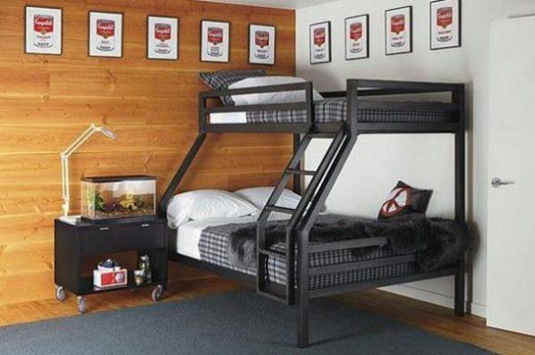 Стильная двухъярусная кровать для взрослых