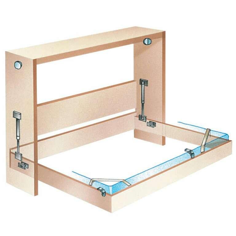 Как самому сделать кровать трансформер в шкафу 594