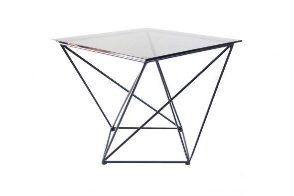Журнальный столик из металла и стекла