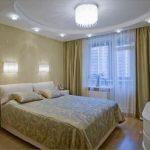 бра над кроватью светлая спальня
