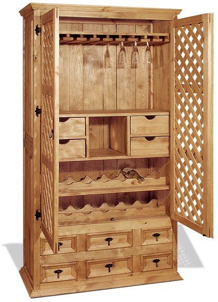 Деревянный шкаф для посуды своими руками