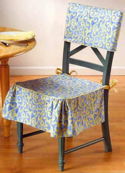Мягкие сидения для стульев своими руками