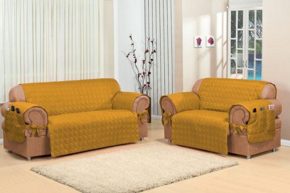 чехол на диван своими руками в интерьере