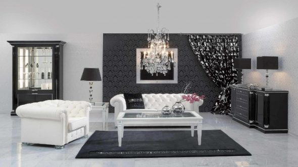 черная мебель подходит для всех комнат