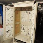 декупаж деревянного шкафа