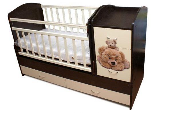 детская кровать-трансформер венге
