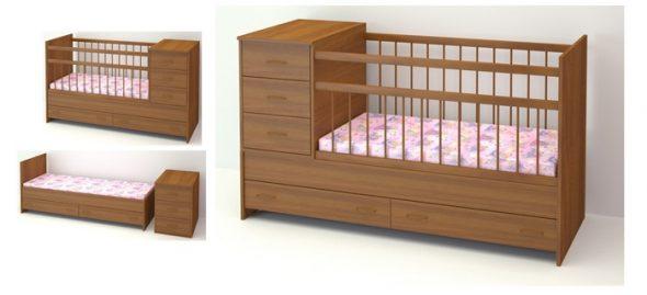 детская кроватка-трансформер Маруся