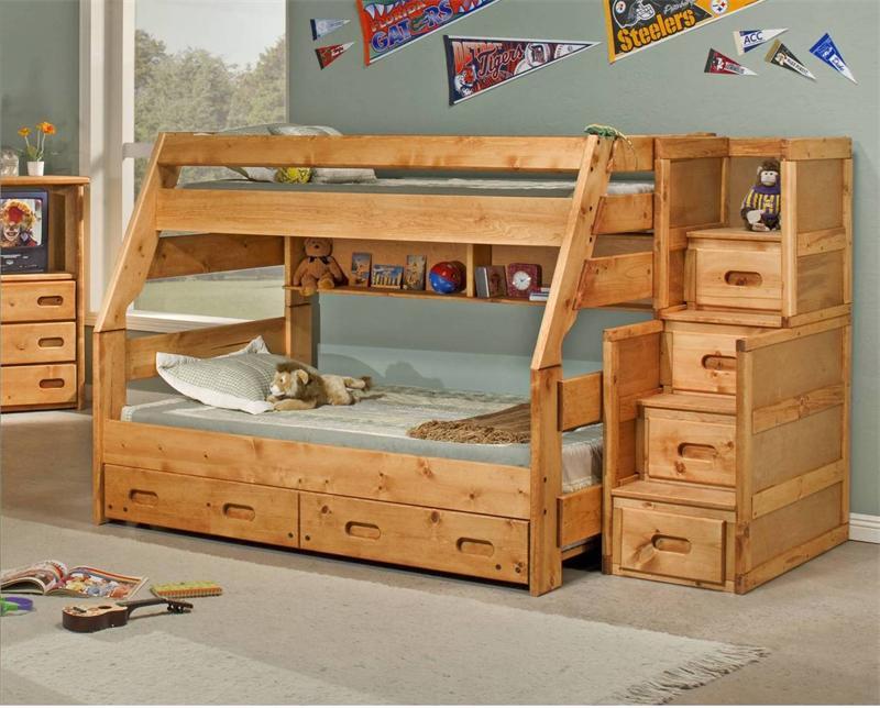 Детские двухъярусные кровати из дерева своими руками
