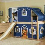детская кровать домик с горкой