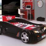 кровать машина черная
