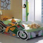 детская кровать машина мото