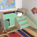 детская кровать с горкой и лесенкой