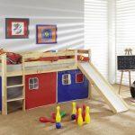 детская кровать с горкой игровая