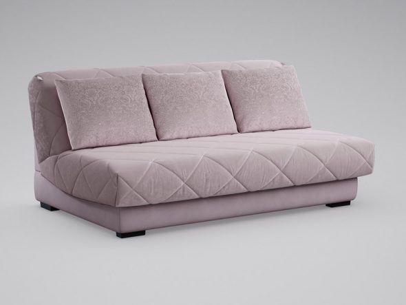 диван-кровать светло-фиолетового цвета