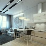 дизайн кухни 10 кв. м. с диваном фото идеи