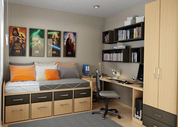 дизайн маленькой комнаты для подростка мальчика