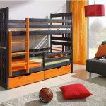дизайнерская двухъярусная кровать из массива дерева