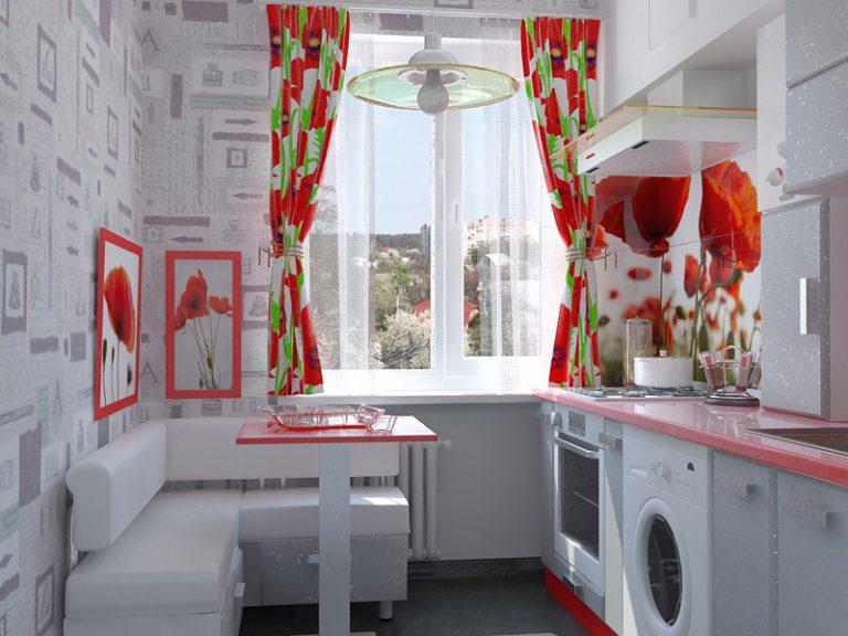 Обои для красной кухни дизайн