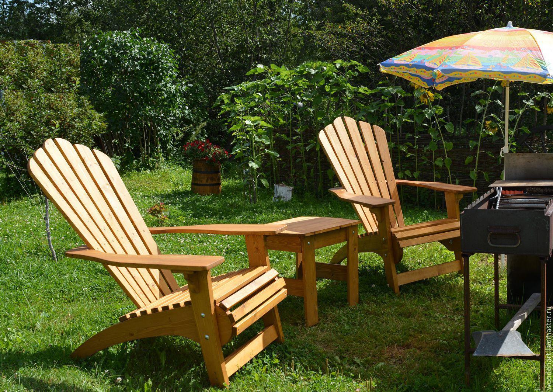 Кресло из дерева для сада