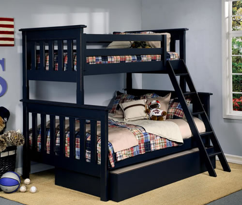 двухъярусная кровать черная