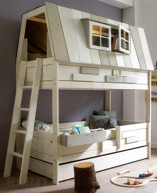 Двухъярусные кровати для детей своими руками 547