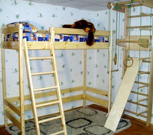 кровать спортивный уголок