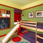 детская кровать с горкой для ребенка