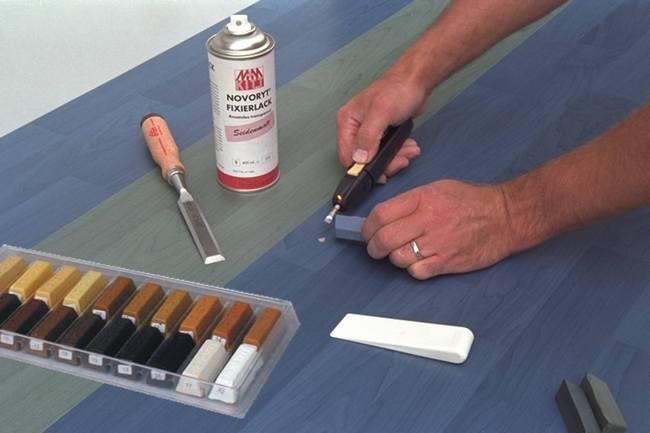 Реставрация мебели восковым карандашом 147